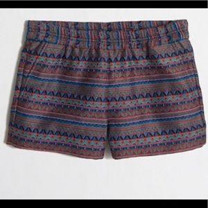 J. Crew Jacquard Boardwalk Pull On Shorts Size 2